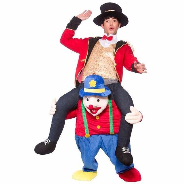 New Ride Me Stag Oktoberfest Mascot Costume Carry Piggy Back Fancy Dress Costume Novelty Animal