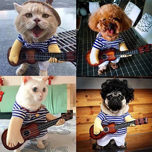 LUCKSTAR Pet Guitar Costume Dog Costume Funny Cat