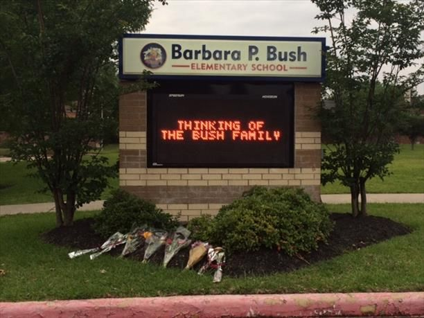 s of flowers at Bush Elementary