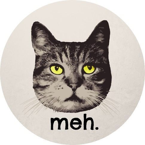 Funny Cat Sticker Meh Cat Owner Lover Animal Pet by Charmedia
