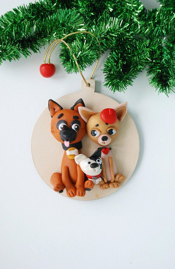 Family of Happy Dogs Funny Christmas Ornaments Xmas Decorations Christmas Tree Ornaments New 2018