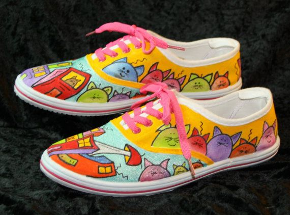 Funny Cat Shoes Summer Fun
