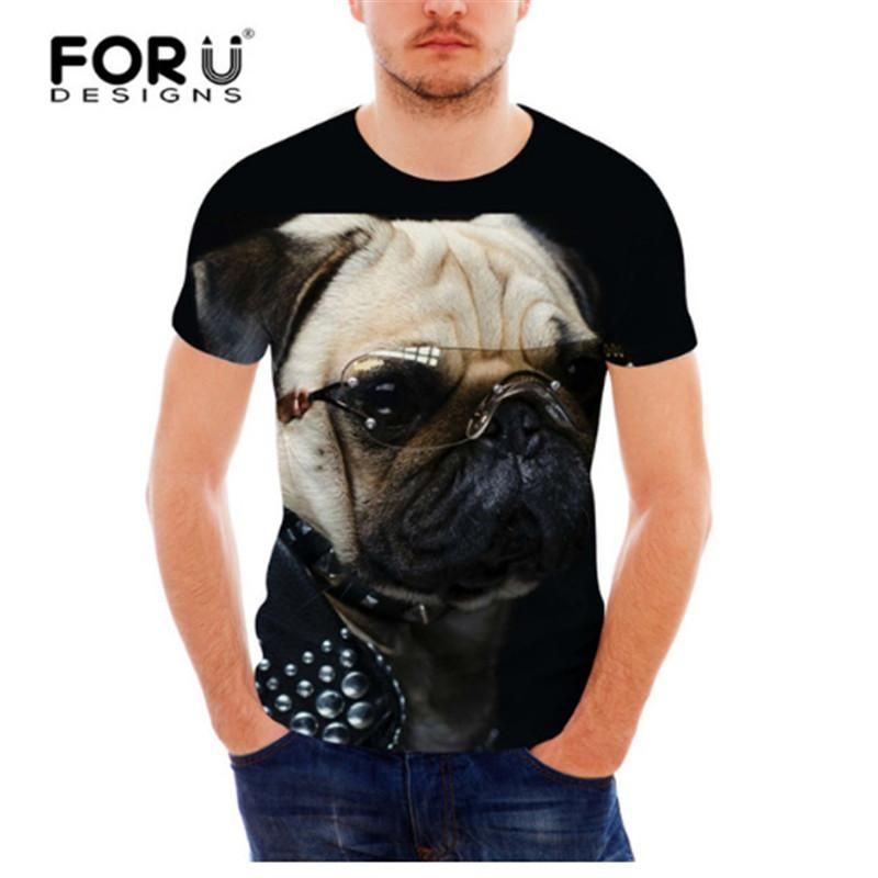 FORUDESIGNS Black Dachshund Dog Print T Shirt For Men Cool Funny Hip Hop Fitness Male Top Tees Summer Short Sleeve 3D T Shirt Funky T Shirts For Women T