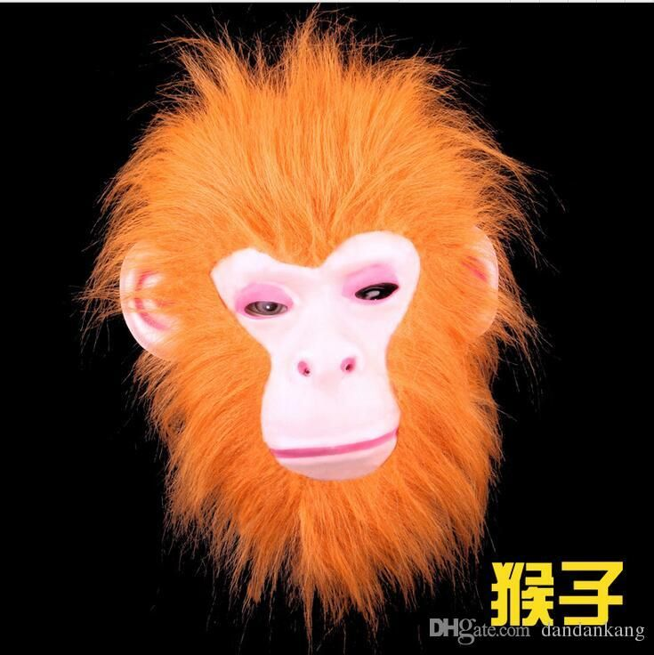 Halloween animal masks party mask funny kids Hallowmas Makeup Animals mask Animal Wolf tiger dog monkey