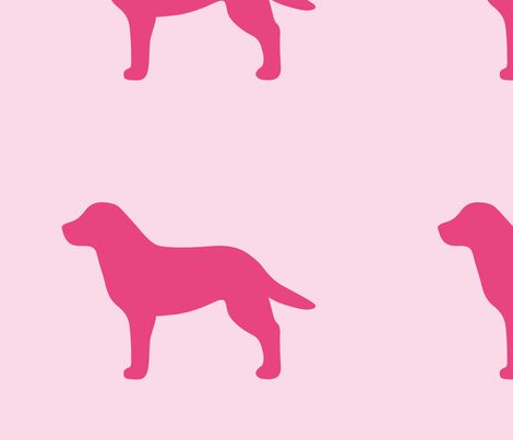 labrador pink silhouette v2 shop preview