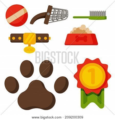 Vector illustration funny thoroughbred german shepherd dog nature attentive happy pet Domestic mammal pedigree canine