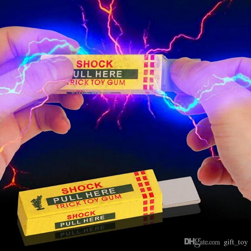 2019 Electrical Shocker Shocking Chewing Gum Funny Toy Safety Trick Joke Practical Joke Fantastic For Fun Gag Gift Farce Blague From Gift toy
