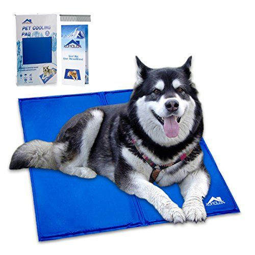 "This cooling pet bed fits on dog beds car seats couches and more It ""cools down"" in response to the pressure of your dog s body and only takes about a"