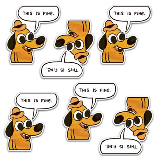 This is Fine Dog & Phrase Stickers 6 Pack