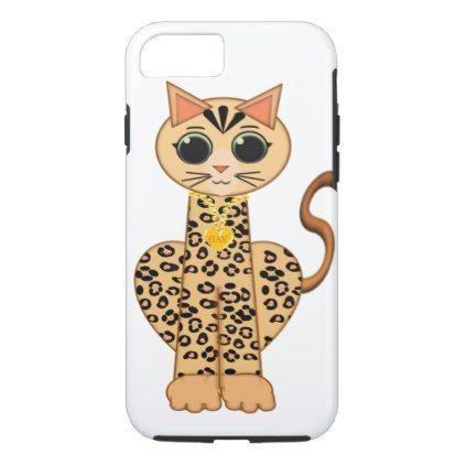 Cute Bengal cat iPhone 8 7 Case cat cats kitten kitty pet love