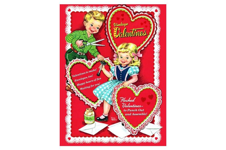 Vintage Valentines Press Out Book