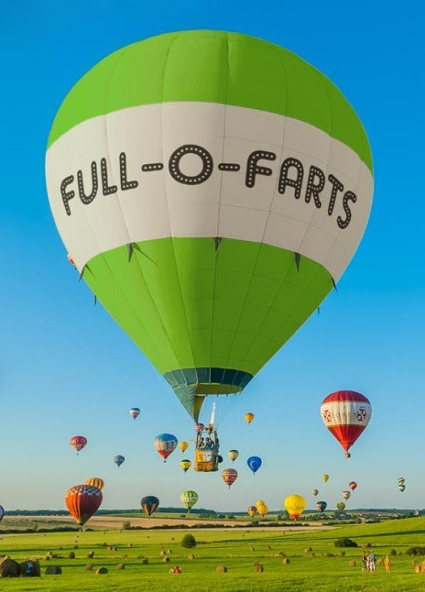 33 Funny hot air balloon full o farts