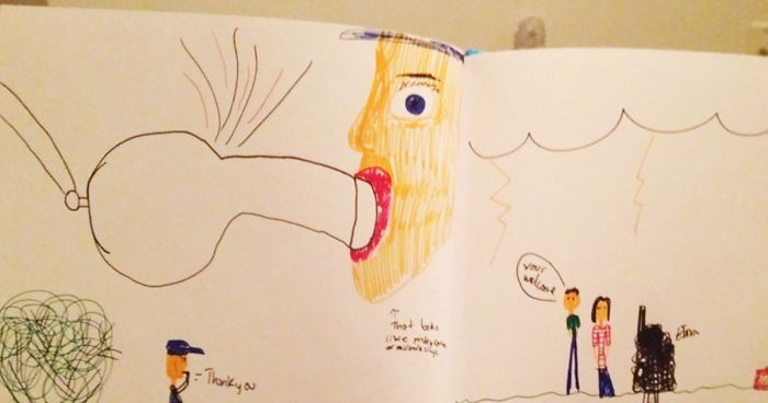64 Hilariously Inappropriate Kids Drawings Funny