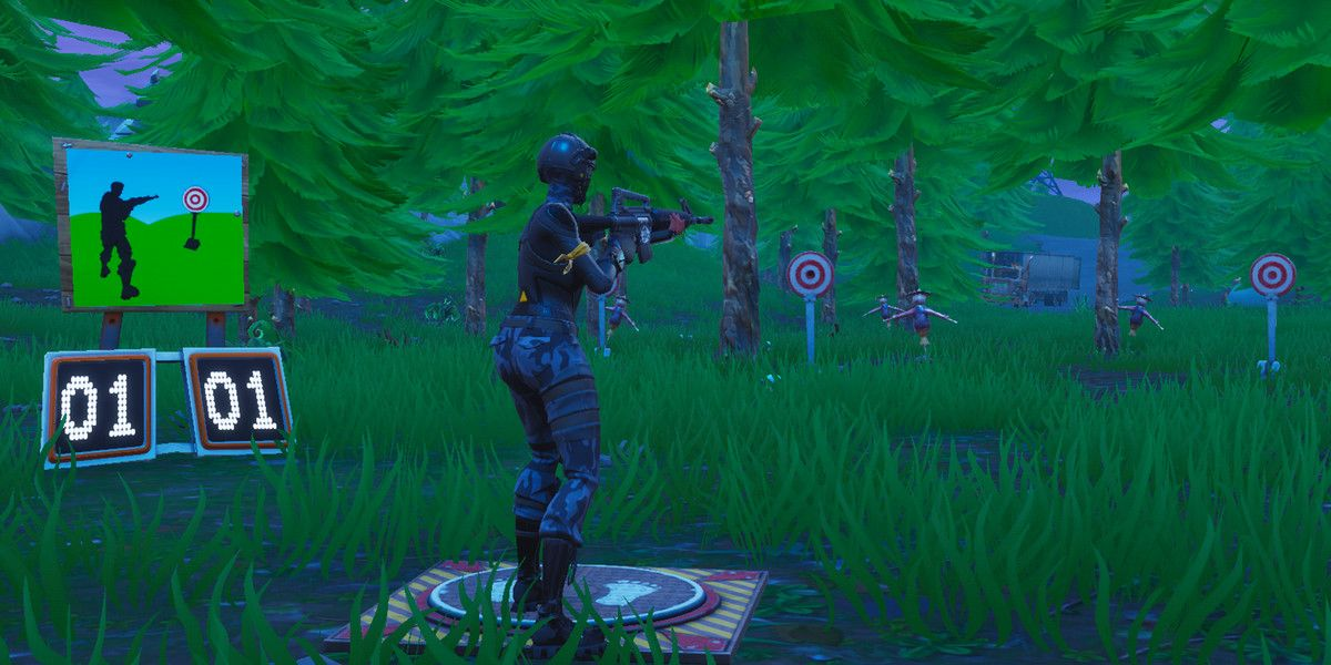 Fortnite challenge guide Get a score of 5 or more at the shooting galleries Polygon