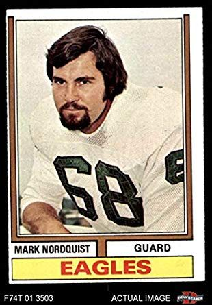 1974 Topps 492 Mark Nordquist Philadelphia Eagles Football Card Dean s Cards 4