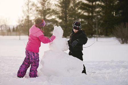 Snowman Bowling It is a great winter