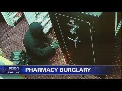CAUGHT ON CAMERA Sparks Fly in Pharmacy Heist Super Value Pharmacy Burglary