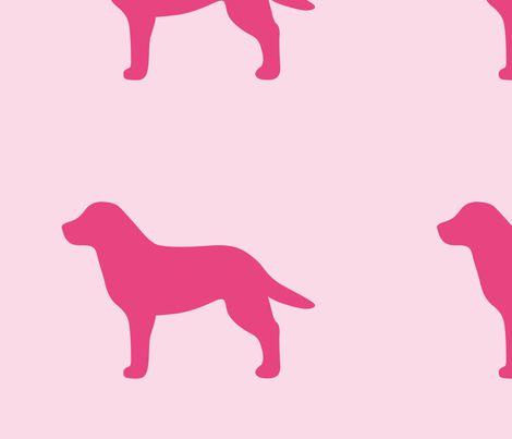 labrador pink silhouette v2 shop preview