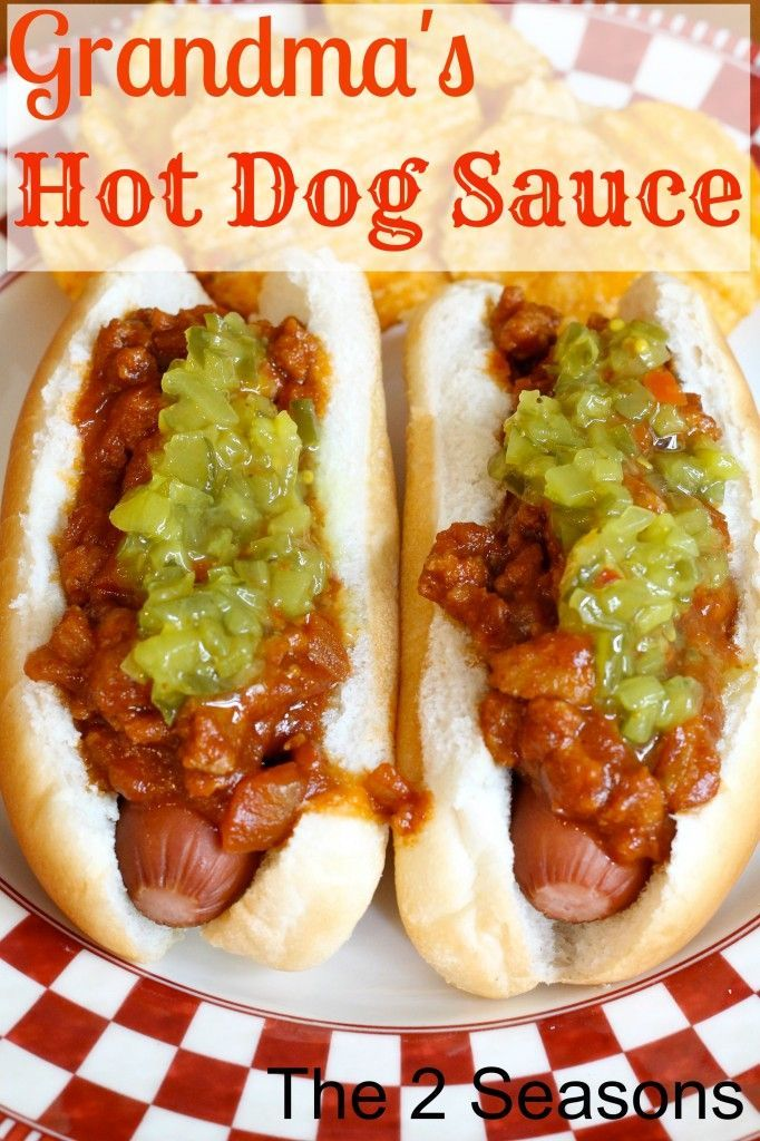 This hot dog sauce is absolutely delicious Be sure to make it for your grilled hot dogs this summer