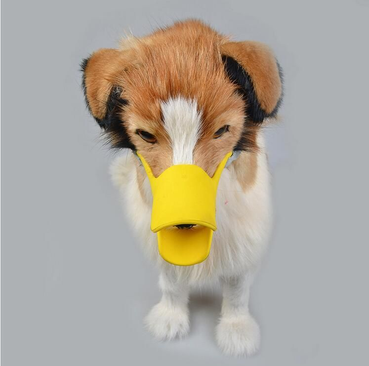 Silicone Dog Cute Duck Mouth Mask Muzzle Bark Bite Stop Small Dog Anti bite Masks For Dog Products Pets Accessories