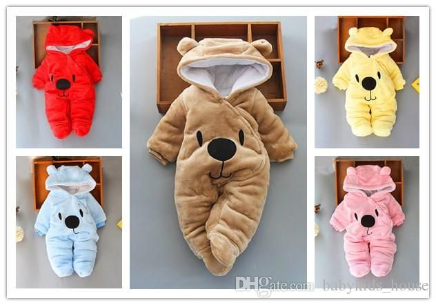 Newborn Baby Rompers Winter Toddler Boy Girl Warm Jumpsuits Infant Babe Clothing e Piece Newborn Baby Rompers Winter Toddler Boy Girl Warm Jumpsuits