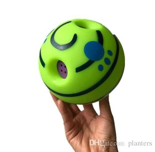 2019 Funny Sound Pet Dogs Cats Playing Ball Wobble Wag Giggle Chewing Ball Puppy Training Ball With Funny Sound Gift Pet Toy Supplies From Planters
