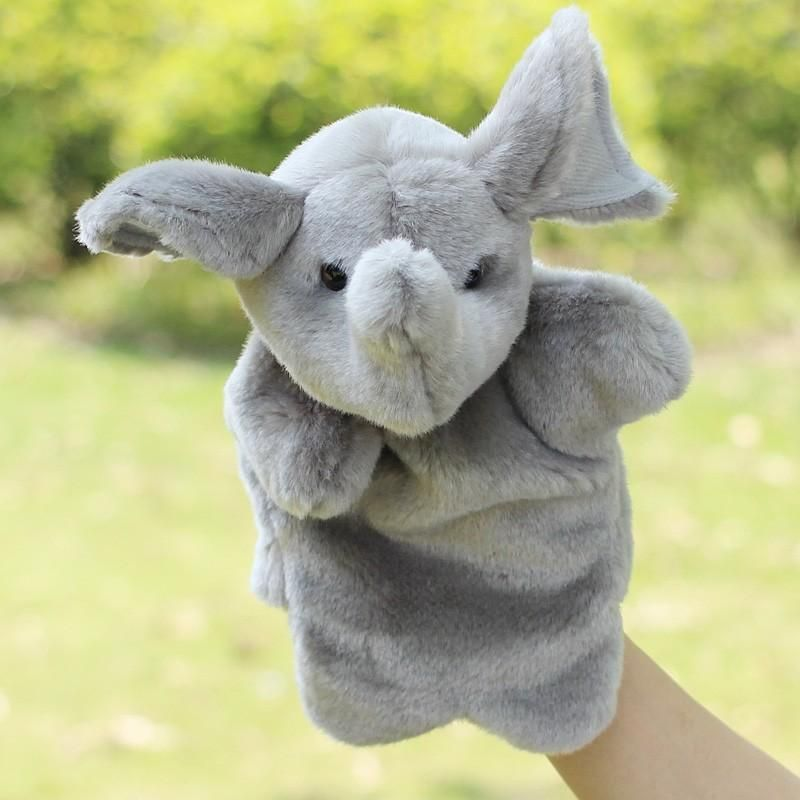 2016 Plush Hand Puppet Elephant Dolls Funny Baby Early Educational Toys Animal Hand Glove Puppets For