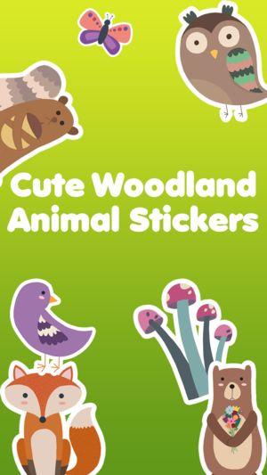 Woodland Animals Cute Animal Stickers 4
