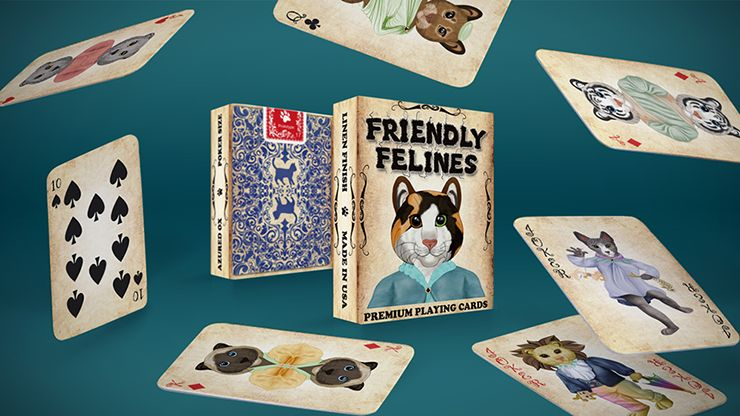 Friendly Feline Playing Cards Magic and Fun Co Moline IL Quad Cities USA