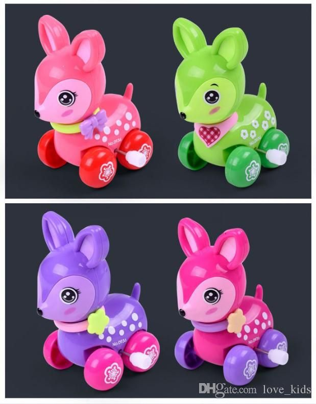 Lovely wind up toy animal funny baby Zoo Baby deer design Running Clockwork Spring Toy newborn