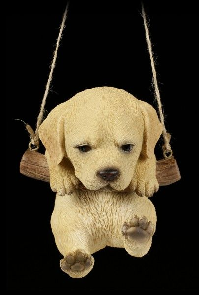 Hanging Dog Figurine Labrador Puppy