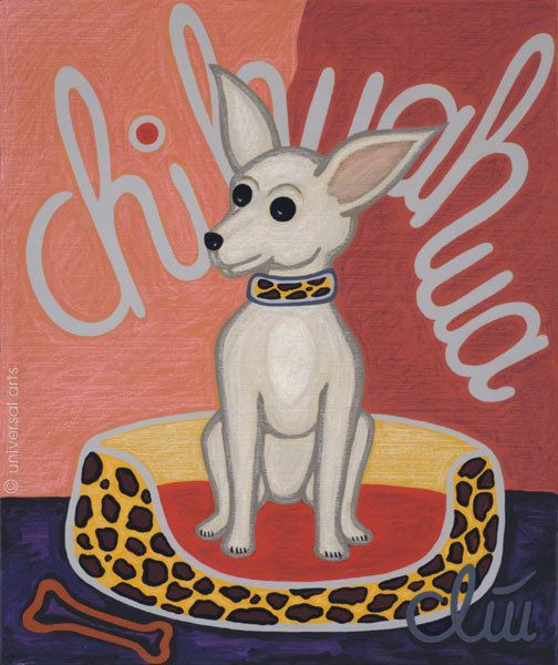 The Chihuahua Dog print after a painting by Jacqueline Ditt on Etsy $5 59