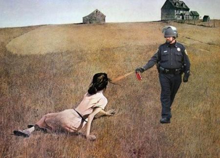 4Pepper Spraying Cop
