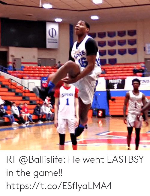 OD SPINE RT Ballislife He went EASTBSY in the game s