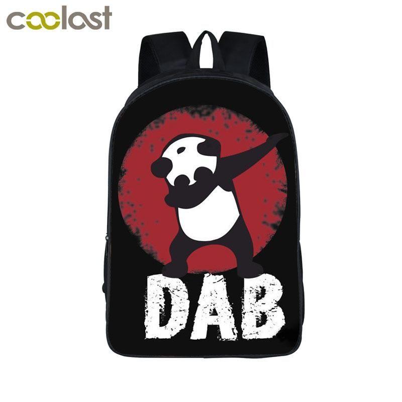 Funny Cartoon Dabbing Panda Cat Backpack For Teens Boys Kids Book Bag Children School Bags Men Women Hip Hop Backpack Book Bag Y Swiss Gear Backpack