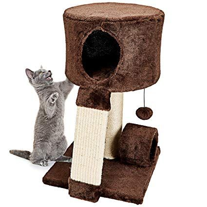 Animals Favorite Cat Condo Perch Cat Tree with Scratch Post for Small Cats and Kittens