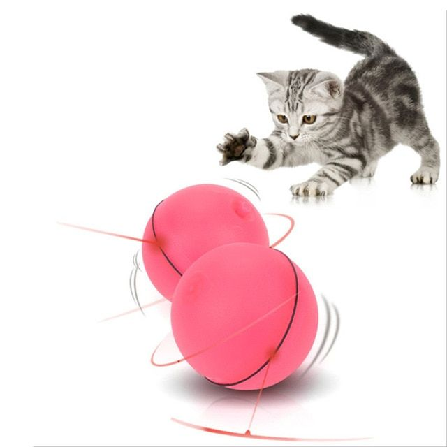 Cat Dog LED Laser Red Light Electronic Rolling Ball Perfect Toy Keep Your Pet Busy Cat Interactive Laser Ball Electric Funny Toy