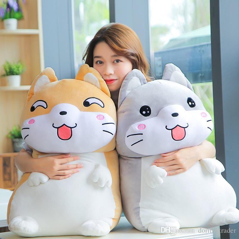 2019 Super Cute Korean Dog Plush Toy Big Animals Dog Doll Funny Cartoon Emoji Sleeping Pillow 20inch 50cm DY From Dorimytrader $38 6