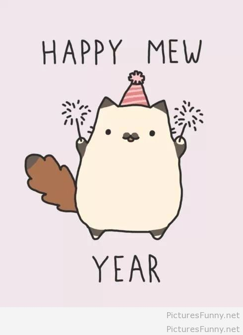 cat happy new year