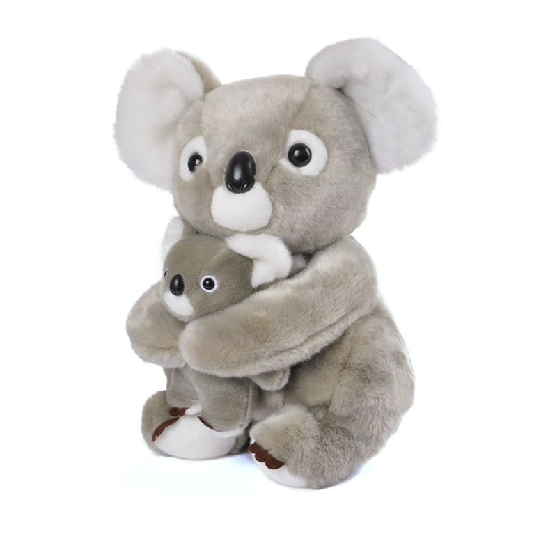"""Plush Koala Mother Holding Baby Cartoon Stuffed Animal Toys Cute Soft Dolls Best Gifts for Kids Friend Girls Baby 11"""" in Stuffed & Plush Animals from Toys"""