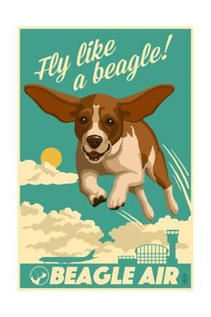 lantern press beagle retro aviation ad u L PWHEHP0