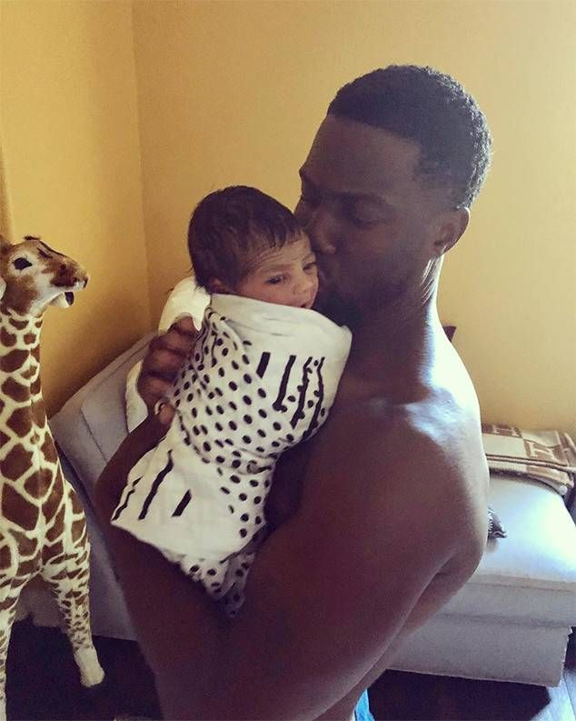 Kevin Hart Kisses Baby Boy Kenzo in Cutest of Son Yet