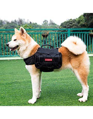 eTigris Dog Pack Hound Travel Camping Hiking Backpack Saddle Bag Rucksack for Medium & Dog