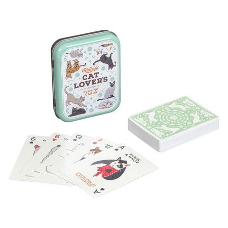 Cat Lovers Deck of 52 Illustated Cat Breed Index Playing Cards Walmart