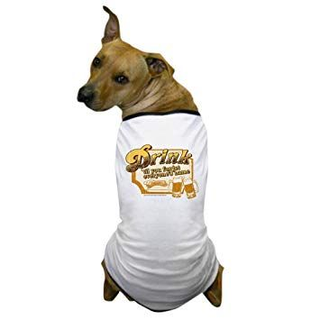 CafePress Cheers Drink Dog T Shirt Pet Clothing Funny Dog