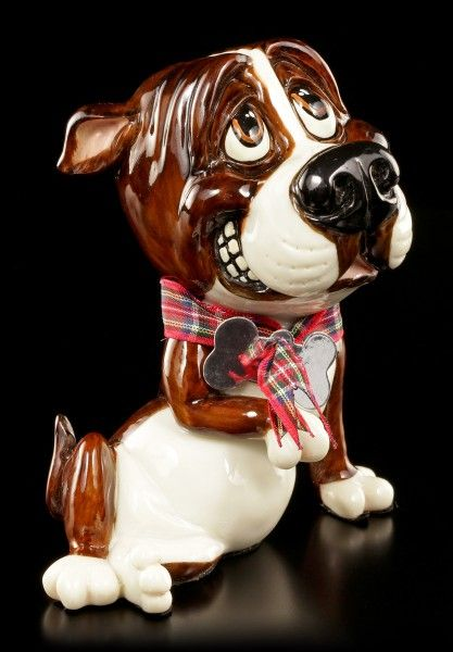 Dog Figurine Bull Terrier Chaz Little Paws