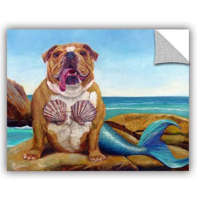 Varick Gallery Balbo Mermaid Dog Wall Decal Size 14 H x 18 W x 0 1 D