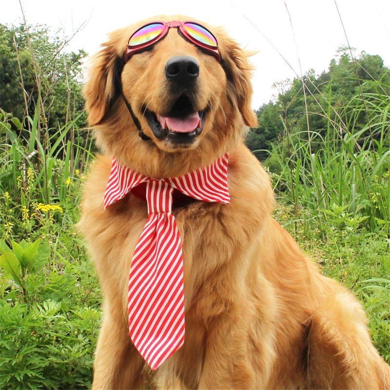 1 Pc Adjustable Stripes Dog Tie For Medium Big Dog Dog Neckties Fashion Dog Accessories