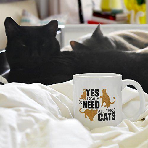 Funny Cat Coffee Mug Cat Lady Mug Cat Lover Mug Gift Yes I