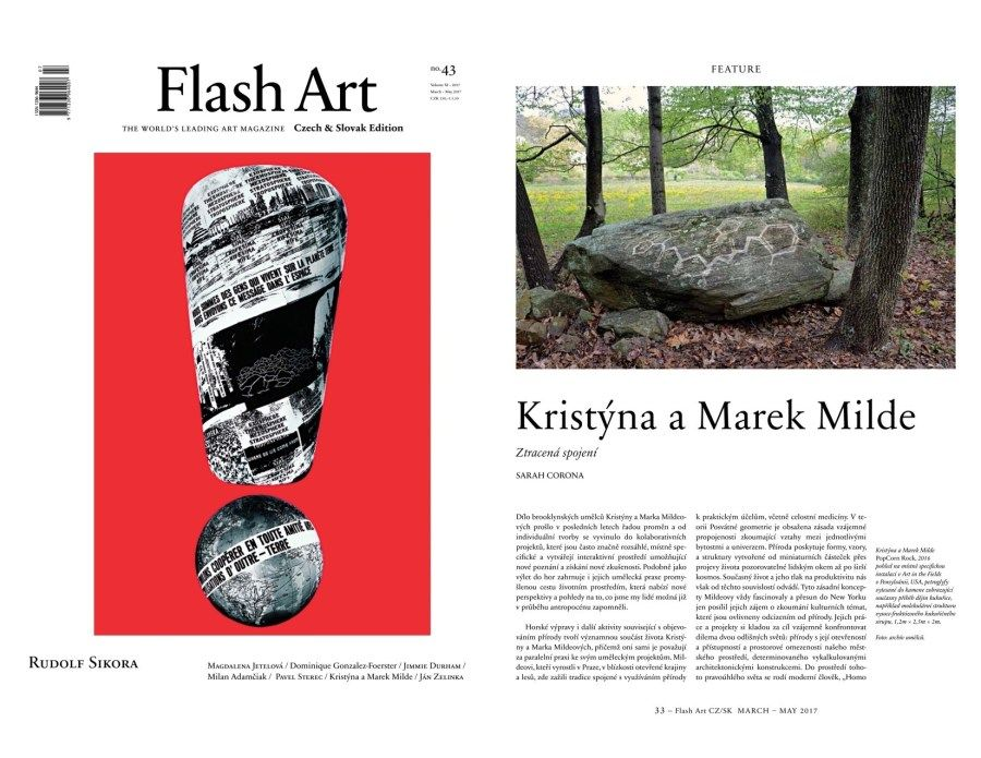 We are pleased to share that the current issue of Flash Art Czech and Slovak Edition a leading international magazine features a prehensive article